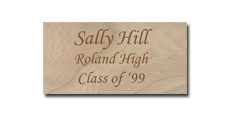"1 1/2"" x 3"" Wooden Name Tags"