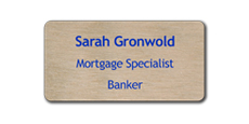 "1 1/2"" x 3"" Wood Blank Name Tags"