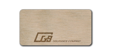 "1 1/2"" x 3"" Blank Wood Tags with Engraved Logo"