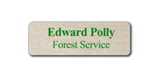 "1"" x 3"" Wood Blank Name Tags"