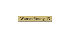 "1"" x 6"" Wall Name Plate Only - Square Corner With Logo"