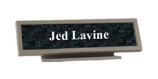 "2"" x 10"" Architectural Frame Desk Name Plate"