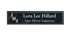 "2"" x 10"" Wall Name Plate with Architectural Frame With Logo"