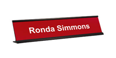 "2"" x 10"" Traditional Metal Frame Desk Name Plate"