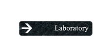 "2"" x 10"" Directional Sign Plate Only - Round Corners"