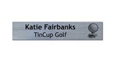 "2"" x 10"" Wall Name Plate Only - Square Corners With Logo"