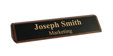 "2"" x 10"" Walnut Desk Wedge Name Plate"