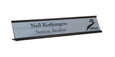 "2"" x 12"" Traditional Metal Frame Desk Name Plate with Logo"