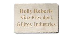 "2"" x 3"" Wooden Name Tags"