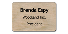 "2"" x 3"" Wood Blank Name Tags"