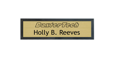 "2"" x 8"" Wall Name Plate with Architectural Frame With Logo"