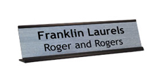 "2"" x 8"" Traditional Metal Frame Desk Name Plate"
