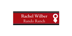 "2"" x 8"" Wall Name Plate with Metal Frame With Logo"