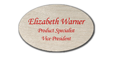 Oval Blank Name Tags