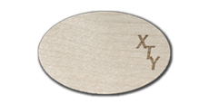 Oval Blank Wood Tags with Engraved Logo